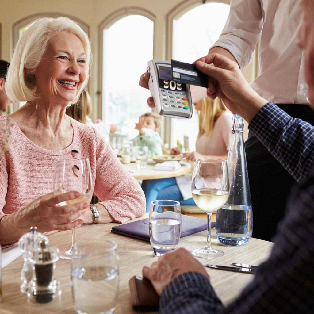 Contactless over 60s